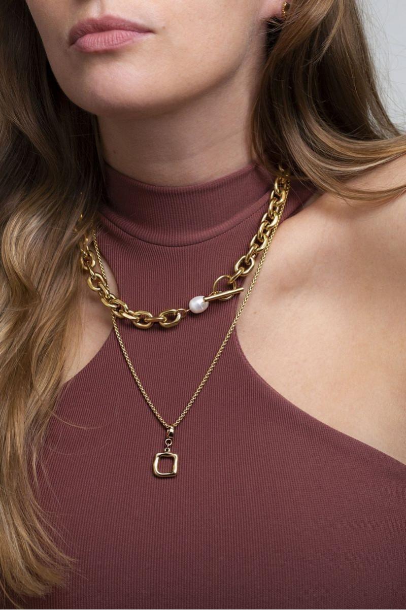 Frieze Necklace Gold